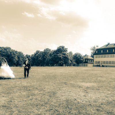 Brautpaar-Shooting Schloss in Solitude