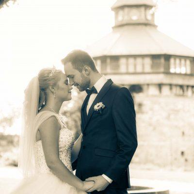 Brautpaar bei einer Hochzeit in esslingen
